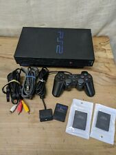 PlayStation 2 Ps2 Fat Console w/ Controller & Cables & Memory -Tested Scph-39001