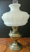 Antique Aladdin Model 12 Converted Oil Lamp w/401 Embossed Glass Shade