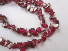 "5mm Triangle Genuine Garnet Gemstone Beads - Full 13"" Strand"