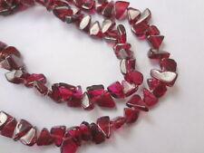 "5mm Triangle Genuine Garnet Gemstone Beads - Full 13"" Strand"