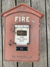 Vintage Gamewell Fire Alarm Call Box w/ Key from The Gamewell Co Newton Mass