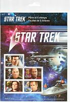 Canada Stamps - Mini Sheet of 5 - 2017, Star Trek Captains #2983 - MNH