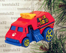SUPER MARIO BROS. DRAGSTER DELIVERY TRUCK RED BLUE CHRISTMAS TREE ORNAMENT XMAS