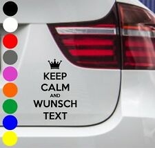 WD auto pegatinas keep Calm and deseo texto Pegatina Sticker Dub JDM OEM 15x10cm