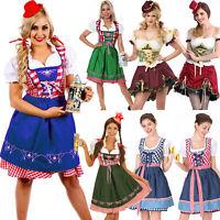 Women's Bavarian German Oktoberfest Beer Wench Maid Dirndl Fancy Dress Costume