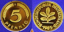 5 Pfennig 1985 D Munchen Germania Germany Deutschland #G208