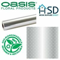 Oasis Super Eco Biodegradable Clear Cellophane Roll 80cm Wide Compostable Wrap