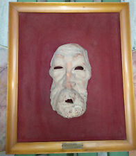 Antique sculpture rare terracota mask face old man The Hunger Mazzolani framed