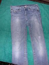 Women's True Religion Straight Denim Blue Jeans 27/32 Flap Pocket pants