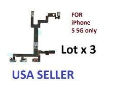 Lot x 3 New Power Mute Volume Control Button Switch Flex Cable For iPhone 5 5G