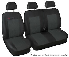 Fully tailored van seat covers for Ford Transit Custom grey
