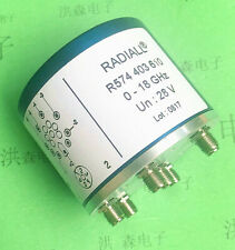 1pc Radiall R574403610 Dc-18Ghz180W 28V Sp6T Sma Rf switch