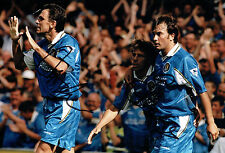 Pierluigi CASIRAGHI & Gianfranco ZOLA SIGNED Autograph Chelsea Photo AFTAL COA
