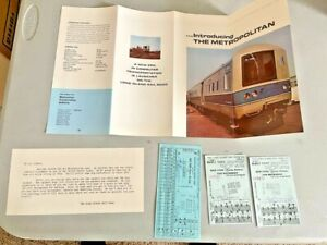 Antique Long Island NY PROMO LIRR Rail Road Brochure + 3 TICKETS NEW MUST SEE