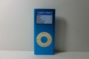 Apple iPod Nano 2nd Generation Blue (4GB) Media MP3 Player Model A1199