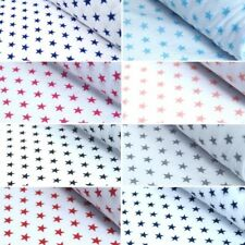 Polycotton Fabric 11mm Stars On White Dress Craft