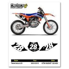 2013-2015 KTM SX/SXF Team Issue LO Motocross Graphics Dirt Bike Number Plates
