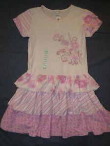NEW NWT Girls Dress by NAARTJIE - Sz 9 Years XXXL - Pink w/ FLOWERS & STRIPES
