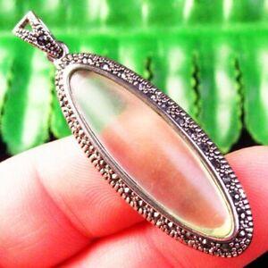 M98933 Wrapped Green Crystal Tibetan Silver Olivary Pendant Bead