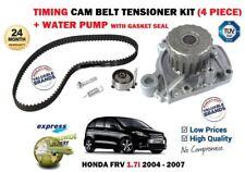 FOR HONDA FRV 1.7i D17A2 2004-2007 WATER PUMP + TIMING CAM BELT TENSIONER KIT