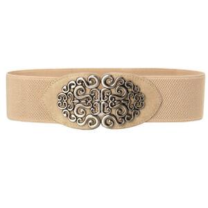 Women's Vintage Wide Elastic Stretch Waist Belt Retro Waistband Cinch Waist Belt