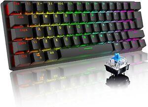 60% Mechanical Gaming Keyboard UK Layout RGB Backlit Type-C USB Wired for PC Mac