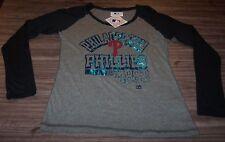 WOMEN'S TEEN PHILADELPHIA PHILLIES  MLB BASEBALL T-shirt MEDIUM NEW w/ TAG