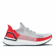 Men's adidas Ultraboost 19 Lightweight Cushioned Running Trainer Shoes in White