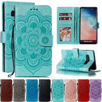 For Samsung Galaxy S9 S10 Plus Sunflower Leather Flip Wallet Stand Case Cover
