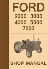Ford Tractor 2000 3000 4000 5000 7000 Series Workshop Manual 1965-1975