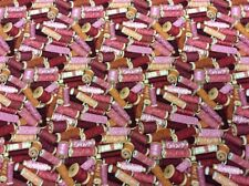 Makower - Felicity's Stash #328 Cotton Reels - 100% Cotton Fabric Red/Pink