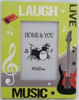 "Tabletop Wood Picture Photo frame 9""x7"" Music Design collectible for 6""x4"" Photo"