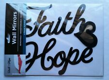 New Faith Love Hope Wall mirrored Decal removable repostionable