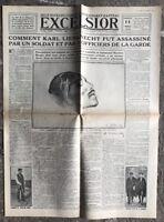 N160 La Une Du Journal Excelsior 11 Mai 1919