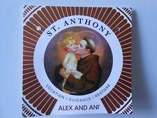 Alex and Ani ST. ANTHONY Holy Ones Expandable Bracelet Shiny Silver NWTBC