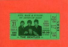 The Beatles 1966 original ticket stub Busch Memorial Stadium