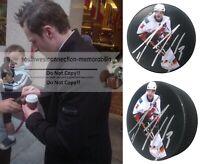 Dion Phaneuf Calgary Flames Autographed Signed Photo Ice Hockey Puck Proof COA