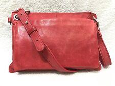 J. Jill Red Leather Crossbody Bag Clutch in EUC