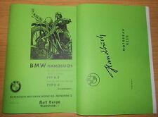 Handbuch BMW Typ R2 & R4 und BMW R25/3