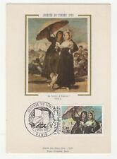 journée du timbre 1er jour FDC 1981 France carte maximum /T2616