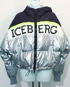 Iceberg Colour Block Puffer Jacket, Womens Puffer Jacket Size S