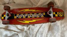"Kryptonics Vintage Complete Skateboard (28 x 7.75"") Red Black Old School"