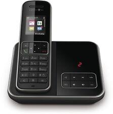 Telekom Sinus A406 Schwarz Schnurlos Telefon mit Anrufbeantworter Schnurloses