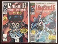 1989 Punisher War Journal 5 And 6, + Others, Wolverine  Saga, Marvel Comics