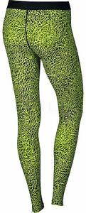 NEW Womens Nike Printed Golf Tight Legging Black/Volt 803118 702 Small $75