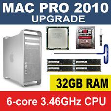 32GB MEMORY + 3.46GHz X5690 6 Core Upgrade kit 2010 Apple Mac Pro 5,1