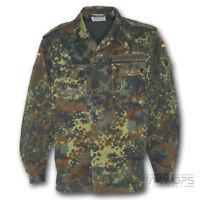 GENUINE GERMAN FLECKTARN CAMO SHIRT ARMY BUDESWEHR MILITARY ISSUE WOODLAND DPM