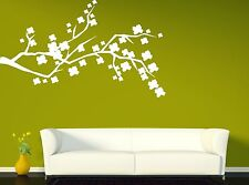 Wall Sticker Vinyl Decal Beautiful Branch of a Tree With Flowers (n122)