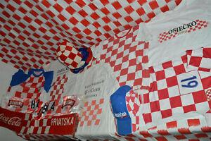 Family LOT of 10 Croatian Soccer Team Jersey Fan Beer Shirt Cap Scarf VATRENI 6