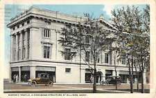 Billings Montana Masonic Temple Exterior Street View Antique Postcard K22106